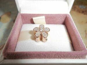 Genuine Authentic Pandora Rose Gold Dazzling Daisy Charm 781480CZ ALE R
