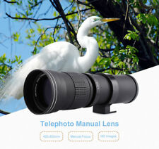 Pro 420-800MM F/8.3-16 Super Telephoto Manual Lens+Adapter For Canon EOS Camera