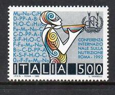 ITALIA Gomma integra, non linguellato 1992 sg2180 CONFERENZA INT Nutrition