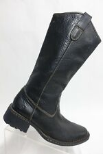 BORN Leather Black Sz 7.5 M Women Knee-High Riding Boots