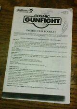 Williams COSMIC GUNFIGHT Pinball Machine Fast Instruction Booklet-good used copy