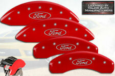 """2019 """"Ford"""" Ranger Front + Rear Red Engraved MGP Brake Disc Caliper Covers 4pc"""