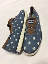 KEDS  WOLVERINE  Tribal Canvas SNEAKERS Women's  Blue/ White, Shoes Size 8