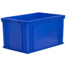 Stacking Solid Euro Container 600x400x325mm 65L Large Plastic Box Crate Tote