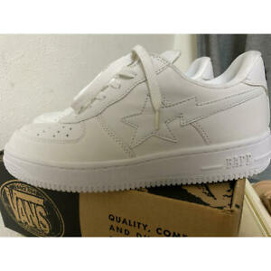 Used A Bathing Ape Bapesta Sneakers Mens 27cm UD 9 Size White Color No Box