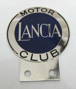 MOTOR LANCIA CLUB CAR GRILL BADGE EMBLEM LOGOS METAL ENAMLED CAR GRILL BADGE