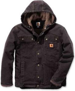 Carhartt Sandstone Barlett Jacket Winterjacke Sherpa Lined Braun 102285 Gr. XXL