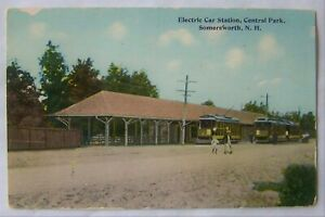 Somersworth NH Electric Car - Trolley Station Central Park – Dover