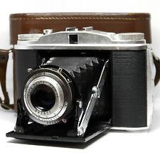 :Agfa Isolette II 6x6 120 Folding Camera w/ Apotar 85mm f4.5 Lens & Case