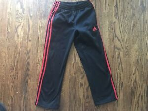 Adidas Boys Sweatpants - Size S (8) - Black And Red
