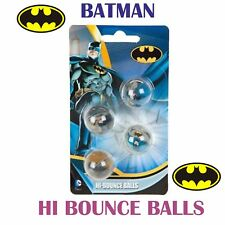 BATMAN PACK OF 4 HI-BOUNCE BALLS -PARTY FAVOURS-BAG FILLERS-FUN FOR KIDS- GIFTS