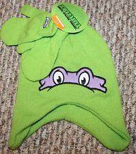 New! TODDLER Boys/Girls Teenage Mutant Ninga Turtles Mittens/Hat Set-Sz 2T-3T-4T