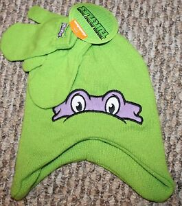 New! TODDLER Boys Teenage Mutant Ninga Turtles Mittens/Hat Set - Size 2T-3T-4T