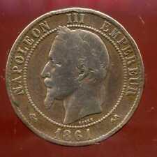 FRANCE  FRANCIA   10 centimes NAPOLEON III   1861 K   (1)