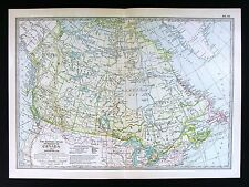 1902 Century Atlas Map Dominion of Canada Quebec Ontario Nova Scotia Yukon Gold