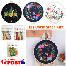 Circle DIY Embroidery Kit Handmade Cross Stitch Set For Beginners Sewing Craft