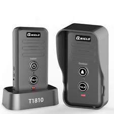 Wireless Intercom Doorbell, IP55 Waterproof Door Bell Cordless, 600m/2000ft Rang