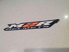 M2R MOTORCYCLE RACING HELMET BIG 285MM LONG STICKER HONDA YAMAHA HARLEY KTM
