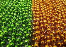 New Listing2 Dozen Mardi Gras Beads Lime Green & Orange School Party Parade 24 Necklaces