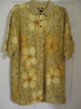TOMMY BAHAMA mens  sz. M. 100% cotton knit  floral  polo camp  casual  shirt