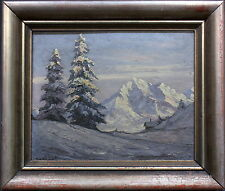 Sig. Nobbe, Ida - Winterliche Berglandschaft Anfang 20. Jhd.