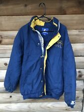 Vintage 90's Michigan Wolverines Starter Pullover Coat Winter Jacket Sz M