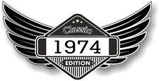Winged STEMMA ANNO datato 1974 Classic Edition CAFE PER MOTO MOTOCICLISTA