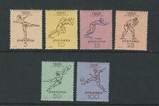 YUGOSLAVIA 1952 HELSINKI OLYMPICS complete set of 6 VF MNH