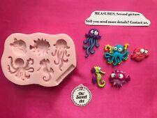 SEA ANIMALS SET, shell fish sea horse  Silicone Mold Food Cake Decoration soap