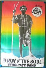 U ROY & THE SOUL – AFFICHE ORIGINALE - SYNDICATE BAND - NATTY REBEL - 1976