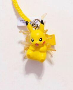 "NEW Pikachu Thunderbolt Pokemon TOMY Collectible Mini Figure, Charm, 1"" Gashapon"