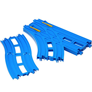 Takara Tomy Plarail R-28 Double Track Turnout Rail (1 set each for L and R)