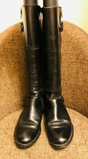 Aldo Black Real Leather Knee High Boots UK size 5