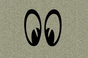 Aufkleber Augen Comic Donald Eyes Decal Sticker Größe 40 bis 100 mm
