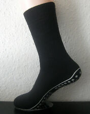 ABS Men's Stopper Socks With Nubby Sole Black Blue Or Grey Size Selectable