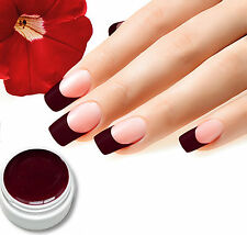 "5ml UV Farbgel ""Rot Brombeere"" Colorgel, Studioqualität von BC-Top-Nails No.26"