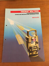 WILD HEERBRUGG THEOMAT T1000 ORIGINAL DETAILED BROCHURE SURVEYOR