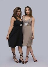 Ladies New Stylish SHORT Party PROM Bridesmaid Dress Gown Buckle MAXI Cocktail