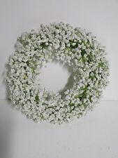 Dekoration Schleierkraut Kranz weiß 24 cm künstliche Seidenblumen Hochzeit Neu