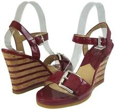MICHAEL KORS Red Patent Cork Wedge Platform Sandals 7.5 M