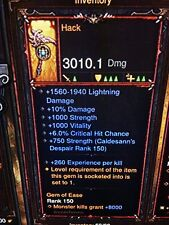 DIABLO 3 PRIMAL ANCIENT HACK PATCH 2.6 LEGENDARY 1 HANDED AXE XBOX ONE SOFTCORE