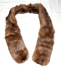Vintage Stone Marten Brown & Cream Fur & Brown Velvet Lining Scarf Wrap Collar