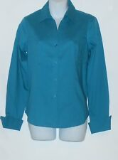 """Jones New York Collection Ladies Fitted """"The Easy Care Shirt"""" Teal Mist 2 NWT"""