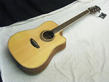 LUNA Muse Dreadnought Quilt Ash CUTAWAY acoustic electric GUITAR new