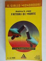 Fattori di morteJapp Andrea H.Mondadori2001giallo2727 simmons mucca pazza