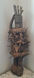 AFRICAN ABSTRACT BAS CONGO FETISH STATUE WOOD VOODOO DOLL 100% GENUINE - LARGE