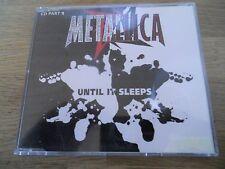 METALLICA UNTIL IT SLEEPS / 2 X 4 (LIVE) / F.O.B.D 3 TRACKS 1996 CD SINGLE RARE