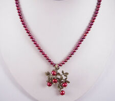 Michael Michaud Silver Seasons Cranberry Pearl Pendant Necklace
