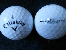 """40  CALLAWAY  """"HEX DIABLO TOUR""""  - BLACK TICK - Golf Balls -  """"PEARL/A"""" Grades."""