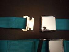 Seat belts vintage ford thunderbird falcon mustang malibu buick mopar  turquoise